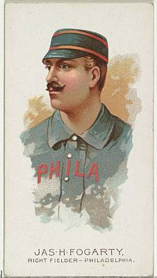 Baseball Drawing - James H. Fogarty, Baseball Player by Allen & Ginter