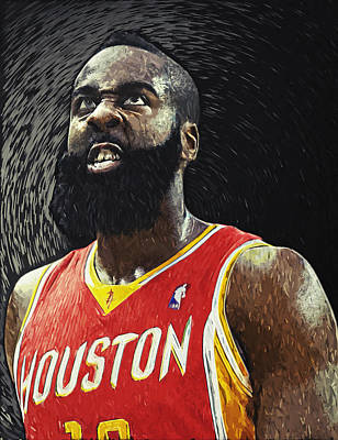 Stadium Digital Art - James Harden by Taylan Apukovska