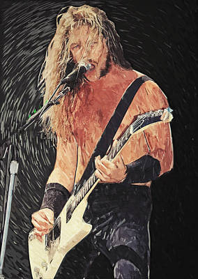 Dave Digital Art - James Hetfield by Taylan Apukovska