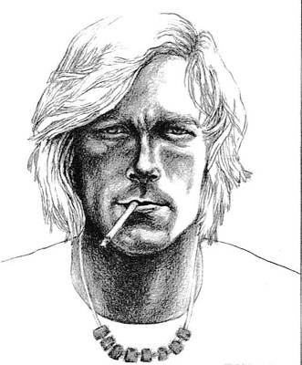 Drawing - James Hunt by Diane Fine