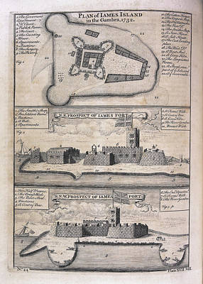 James Island And Fort Print by British Library