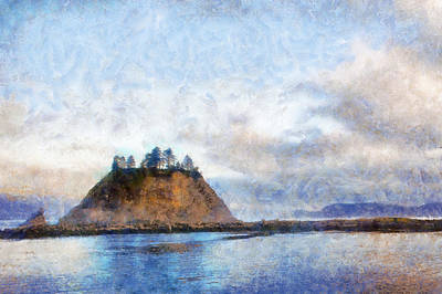 Canoe Digital Art - James Island La Push by Kaylee Mason