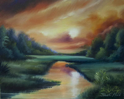 Clearing Painting - James Island Marsh by James Christopher Hill