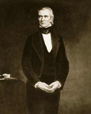 Black History Painting - James K Polk  by George Healy