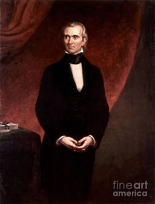 Healy Painting - James Knox Polk by GPA Healy