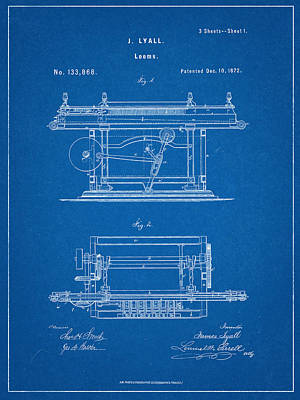 Looms Digital Art - James Lyall Loom Patent by Decorative Arts