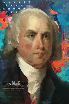 Theorist Painting - James Madison by Corporate Art Task Force