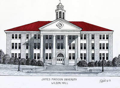 Drawing - James Madison University by Frederic Kohli