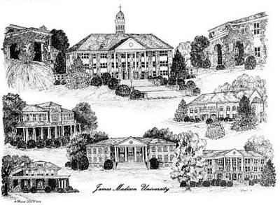 James Madison University Digital Art - James Madison University by Jessica Bryant
