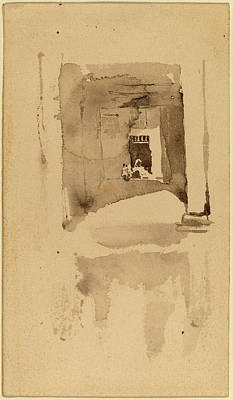 Wash Drawing - James Mcneill Whistler, A Doorway In Ajaccio by Quint Lox
