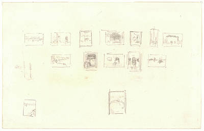 Selection Drawing - James Mcneill Whistler American, 1834 - 1903. Sketch by Litz Collection