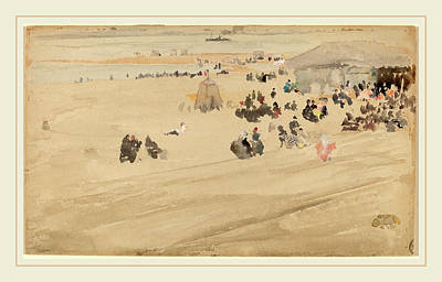 Beach Scenes Drawing - James Mcneill Whistler, Beach Scene, American by Litz Collection