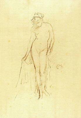 Whistler Drawing - James Mcneill Whistler, Nude Model Standing by Quint Lox