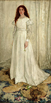 Whistler Painting - James Mcneill Whistler, Symphony In White by Quint Lox