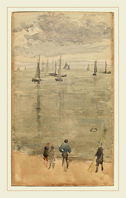Whistler Drawing - James Mcneill Whistler, Violet Notethe Return by Litz Collection