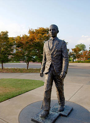 Photograph - James Meredith Statue Closeup by Joshua House