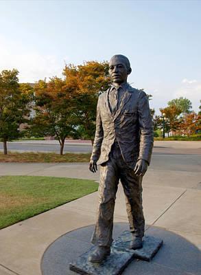 Photograph - James Meredith Statue Closeup by Joshua House