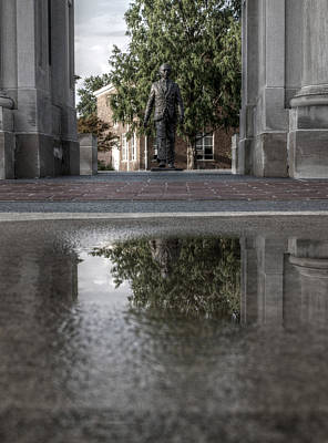 Photograph - James Meredith Statue Reflection by Joshua House