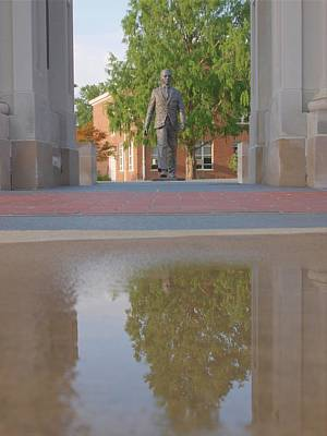 Photograph - James Meredith Statue Reflection Two by Joshua House
