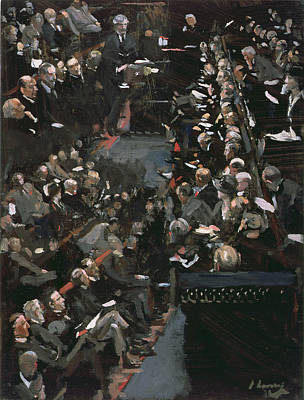Oratory Photograph - James Ramsay Macdonald Addressing The House Of Commons Oil On Panel by Sir John Lavery