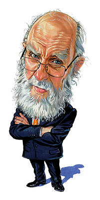 Comics Royalty-Free and Rights-Managed Images - James Randi by Art