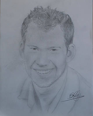 Toronto Maple Leafs Drawing - James Reimer by Andrew Lahay