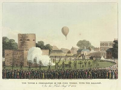 Personalities Photograph - James Sadler Making A Balloon Ascent by British Library