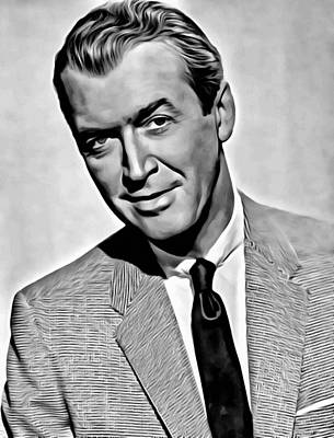 Photograph - James Stewart Portrait by Florian Rodarte