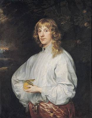 Cousins Photograph - James Stuart 1612-55 Duke Of Richmond And Lennox, 1632-41 Oil On Canvas by Sir Anthony van Dyck