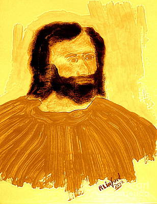 James The Apostle Son Of Zebedee 2 Art Print by Richard W Linford