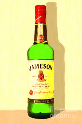 Jameson Irish Whiskey 20140916 Painterly V1 Art Print by Wingsdomain Art and Photography