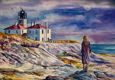 New England Lighthouse Painting - Jamestown by Paula Visnoski