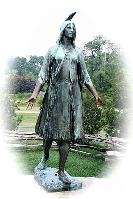 Bronce Photograph - Jamestown Pocahontas Statue by Christiane Schulze Art And Photography