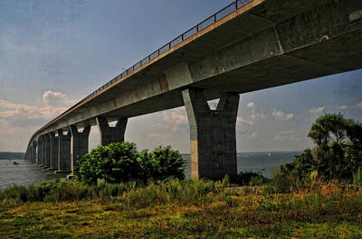 Photograph - Jamestown Verrazzano Bridge by Mike Martin