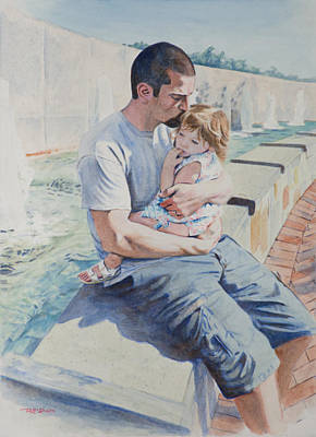 Painting - Jamie And Frankie by Christopher Reid