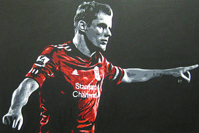 Painting - Jamie Carragher - Liverpool Fc by Geo Thomson