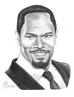 Famous People Drawing - Jamie Foxx by Murphy Elliott