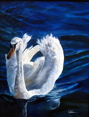 Art Print featuring the painting Jamie's Swan by LaVonne Hand