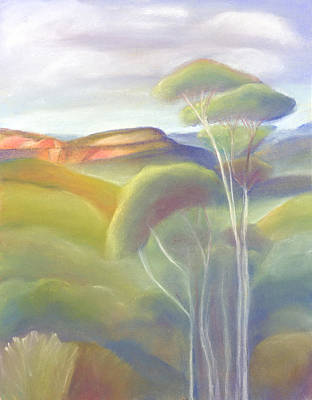 Pastel - Jamison Valley Blue Mountains National Park Nsw Australia by Judith Chantler