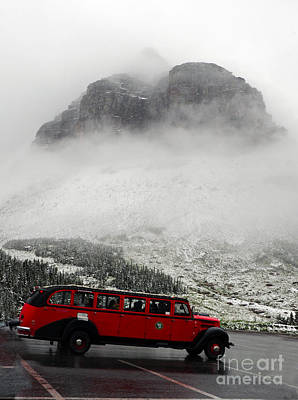 Photograph - Jammer Bus - Glacier Np by Cindy Murphy - NightVisions