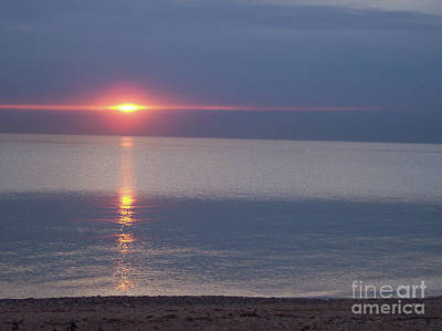 First Star Art By Jammer Photograph - Flash Sunset Lake Huron By Jammer by First Star Art