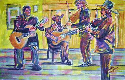 Jammin Art Print by Linda Vaughon