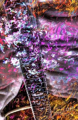 Jammin Out Digital Guitar Art By Steven Langston Art Print by Steven Lebron Langston