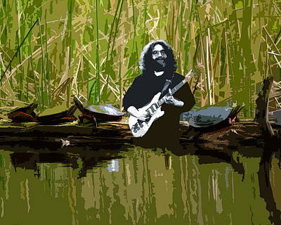 Photograph - Jamming With The Turtles At Terrapin Lake by Ben Upham III