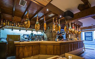 Photograph - Jamon En El Bar by Gary Gillette