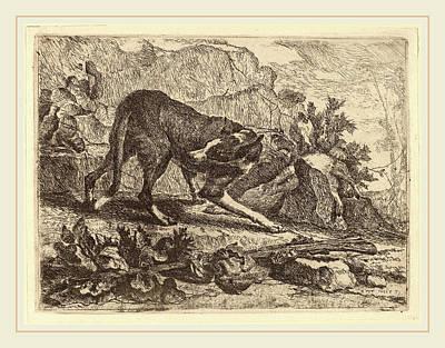 Jan Fyt Flemish, 1611-1661, Landscape With Greyhound Art Print