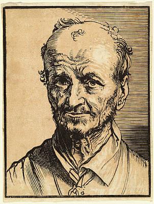 Jan Lievens, Bust Of A Balding Man, Dutch Art Print