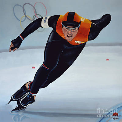 Action Sports Art Painting - Jan Smeekens by Paul Meijering