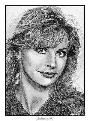 Jan Smithers In 1981 Art Print by J McCombie