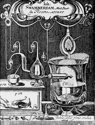 Physiology Photograph - Jan Swammerdam's Laboratory by Universal History Archive/uig